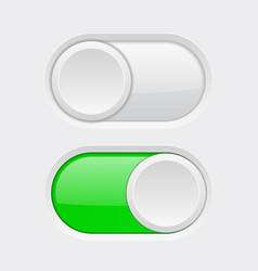 Toggle switch buttons 3d vector