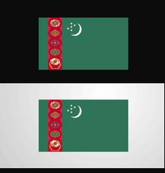 Turkmenistan flag banner design vector