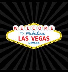 Welcome to las vegas sign icon classic retro vector