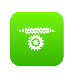 Worm gear icon simple style vector