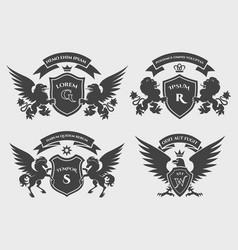 crests logo set vector image