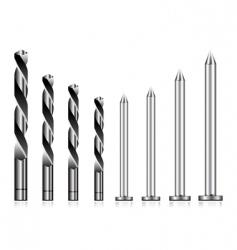 drill and nail icons vector image