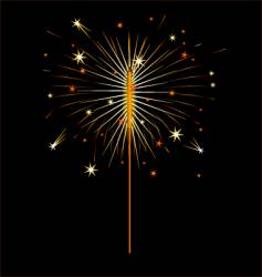 fourth of july sparkler vector image