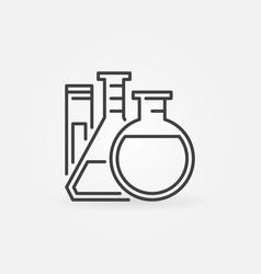 lab glassware icon vector image