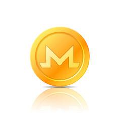 monero coin symbol icon sign emblem vector image vector image