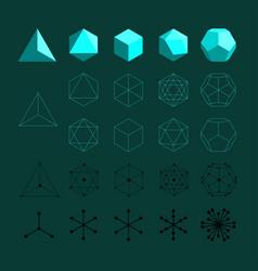 platonic solids vector image