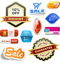 sale signs vector image vector image