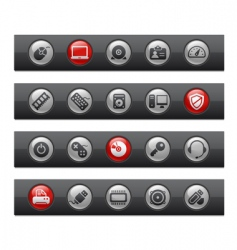 computer and devices bars vector image vector image