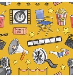 Doodle pattern cinema vector image vector image