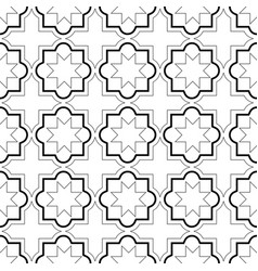 moroccan geometric tiles seamless pattern vector image vector image