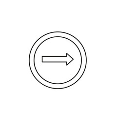 only right turn icon vector image