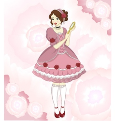 romantic girl vector image vector image