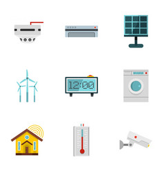 Smart home icon set flat style vector