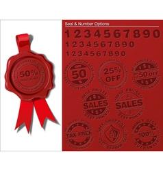 06 Wax Shield Tax Free Sales vector image vector image