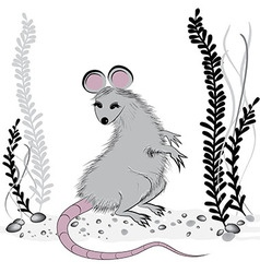 Rat mouse as symbol for year 2020 vector image vector image