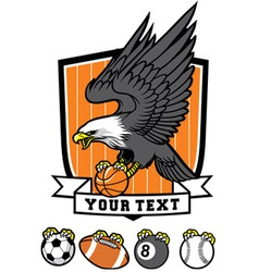 Sporty eagle mascot vector