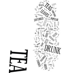 Teas and your health text background word cloud vector