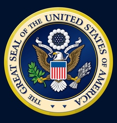 The great seal of the us vector