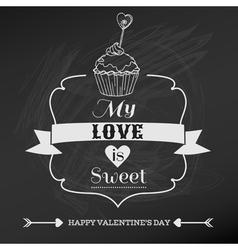 Vintage Valentines Day Card Design vector image