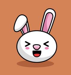cute rabbit character kawaii style vector image vector image