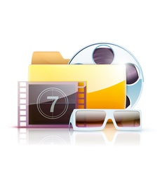 digital video folder vector image vector image