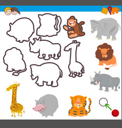 Educational activity with shapes vector