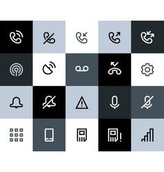 Telephone and call logs icons Flat vector image vector image