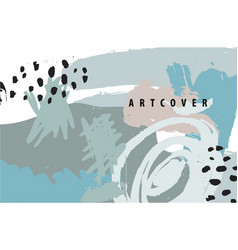 Abstract artistic poster card cover vector