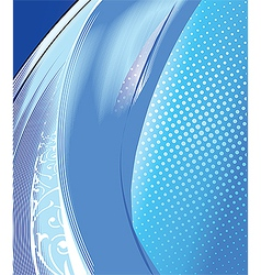 Abstract cold water vector image