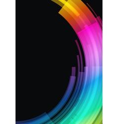 Abstract retro technology circles vector