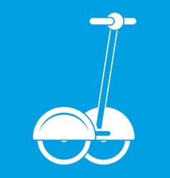 Alternative transport vehicle icon white vector