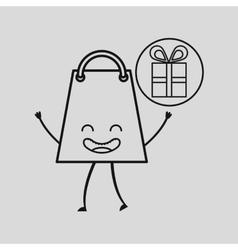 Bag shopping gift concept commerce design vector