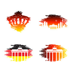 berlin germany line icon vector image
