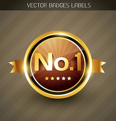 best quality golden label vector image
