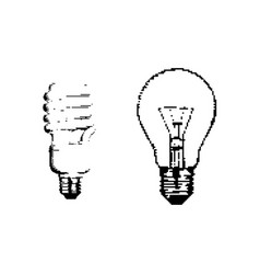 black 8-bit bulb isolated on white vector image
