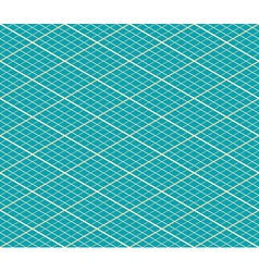 Blue Isometric Seamless Background - Pattern vector
