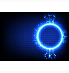 Blue light technology background vector