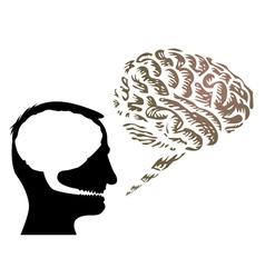 Brain speech bubbles vector image
