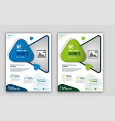 Business-solution-flyer vector