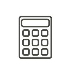calculator icon line mathematics symbol vector image