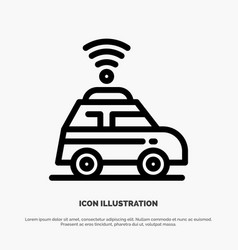 car location map line icon vector image