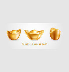 Chinese gold ingots vector