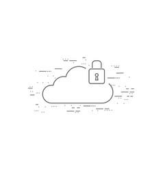 cloud computing thin flat design vector image