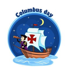 Columbus on the ship 2 vector image