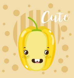 cute peppers kawaii cartoon vector image