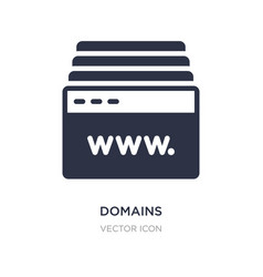 Domains icon on white background simple element vector