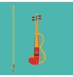 Electric violin vector