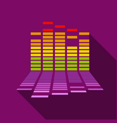 Equalizer icon flat style vector