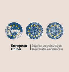 European union flag design concept vector