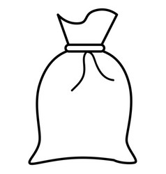 fabric sack isolated icon vector image